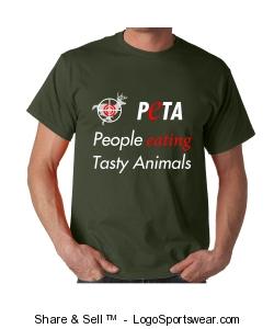 Eat Animals Shirt - Olive Design Zoom