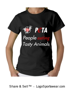 Eat Animals Shirt - Women's Black Design Zoom